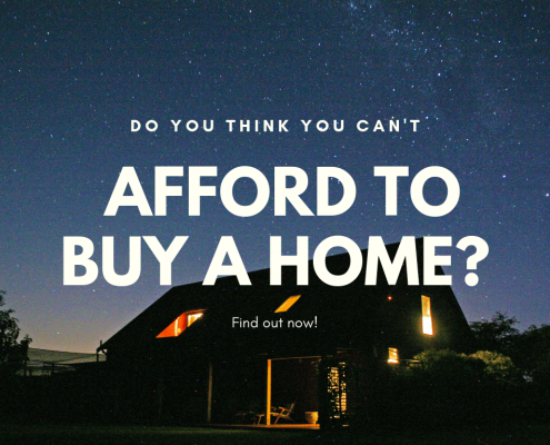 Do You Think You Can't Afford to Buy a Home?